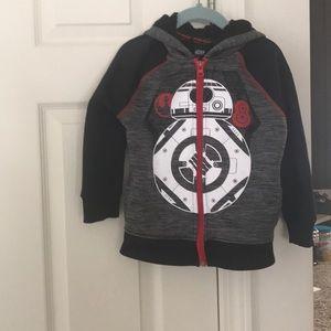 Authentic Star Wars toddler boys fleece hoodie s/4